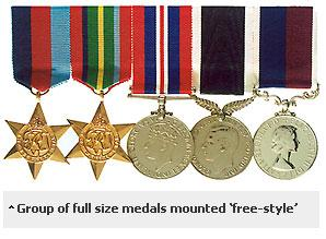Method of mounting insignia | Department of the Prime Minister and