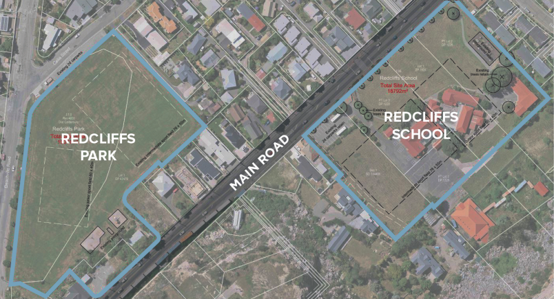 Redcliffs School proposal map