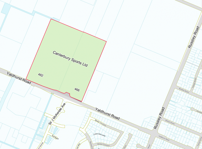 Yaldhurst Recreation and Sports Facility - Site Map