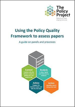 Using the Policy Quality Framework to assess papers: A Guide on panels and processes