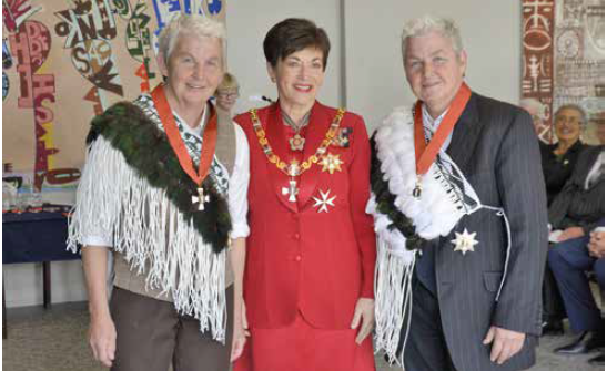 The Topp Twins on their investitures with the Governor-General