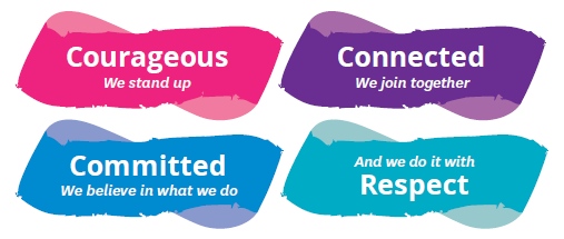 Our values underpin everything we do