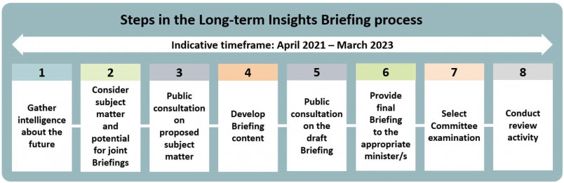 Steps in the Long-term Insights Briefing process