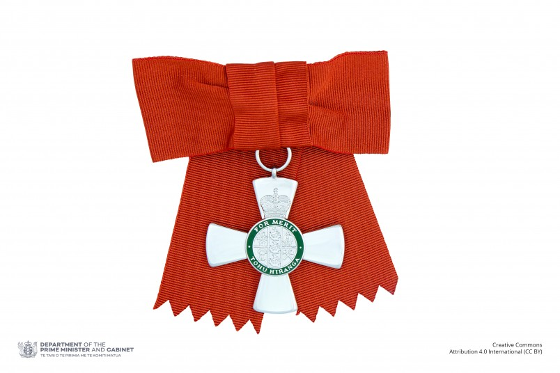 Insignia of a Member of the New Zealand Order of Merit (on ribbon bow)