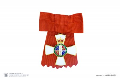 Insignia of a Companion of the New Zealand Order of Merit (on ribbon bow)