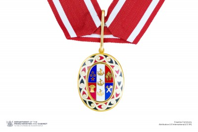 Badge of a Member of the Order of New Zealand (on neck ribbon)